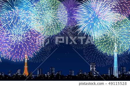 Fireworks display 49115528