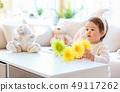 Toddler boy celebrating Easter 49117262