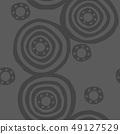 파문의 디자인. 북유럽 풍의 원활한 패턴. 49127529
