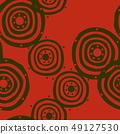 파문의 디자인. 북유럽 풍의 원활한 패턴. 49127530