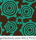 파문의 디자인. 북유럽 풍의 원활한 패턴. 49127532