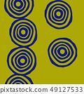 파문의 디자인. 북유럽 풍의 원활한 패턴. 49127533