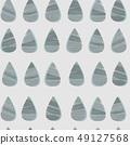 낙숫물 디자인. 북유럽 풍의 원활한 패턴. 49127568