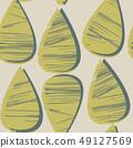 낙숫물 디자인. 북유럽 풍의 원활한 패턴. 49127569