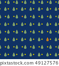 낙숫물 디자인. 북유럽 풍의 원활한 패턴. 49127576