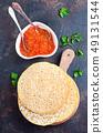 pancakes with salmon caviar 49131544