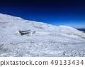 """""""长野县Kiso Komagatake""""Mt. Kiso Komagatake雪中的山峰小屋 49133434"""