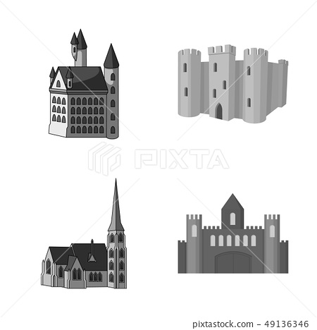Vector design of fairytale and medieval icon. Collection of fairytale and story stock symbol for web 49136346
