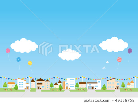 배경 소재 - 주택 49136758