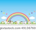 배경 소재 - 주택 49136760