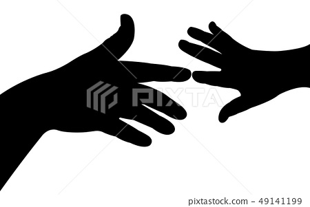 helping hands silhouette vector 49141199