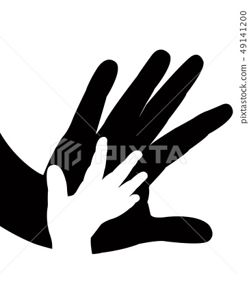helping hands silhouette vector 49141200