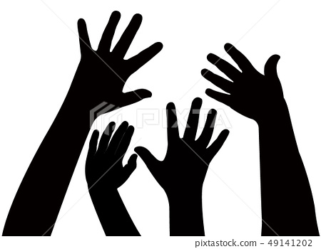 hands silhouette vector 49141202