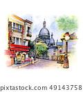 Montmartre in Paris, France 49143758