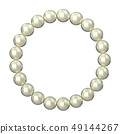 Circle made of pearls 3D 49144267