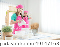 mother and daughter cooking homemade bakery 49147168