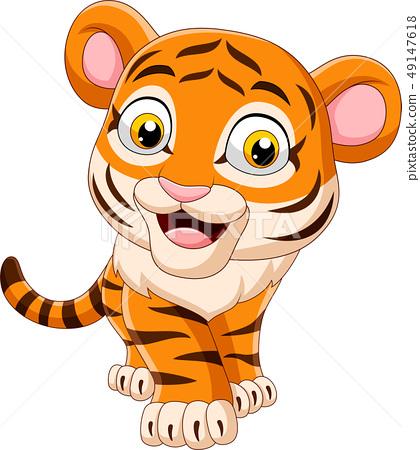 Cartoon funny baby tiger 49147618