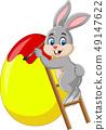 벡터, 페인트, 토끼 49147622
