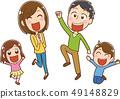 愉快的家庭例證材料 49148829