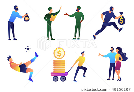People with different occupations vector illustrations set. 49150107