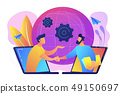 Online conference and business concept vector illustration. 49150697