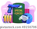 Special military forces concept vector illustration. 49150706