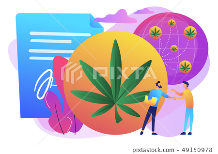 Distribution of hemp products concept vector illustration. 49150978
