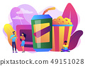 Snacking non-stop concept vector illustration. 49151028