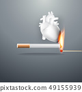 smoking burns your heart and slow suicide 49155939