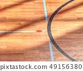 Playfield lines painted on renewal gymnasium 49156380