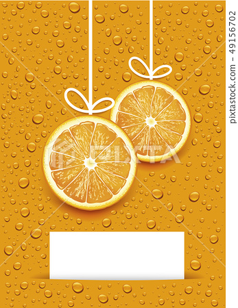 christmas balls created by orange slices  49156702