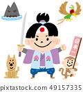 Japanese folklore Momotaro 49157335