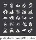 Set of vector icons on the theme of ecology, global warming and ecology problems of our planet. 49158442