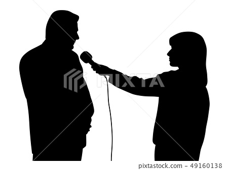 Interview silhouette 49160138