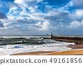 France coast-Capbreton, wooden jetty 49161856