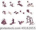 Vector isometric gym exercise machines set 49162655