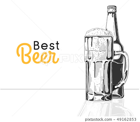 Bottle of beer. Glass with beer. Best beer. 49162853