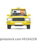 Taxi driver car 49164228