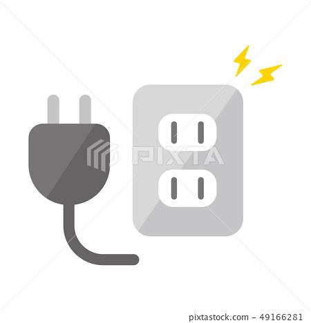 插座·Tap·電動·電源圖標 49166281