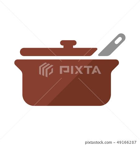 주방 요리 냄비 아이콘 49166287