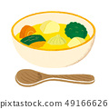Vegetable soup consomme 49166626