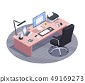 Isometric Workplace Gadgets Composition 49169273