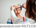 Picture showing adult woman at the hair salon 49171139
