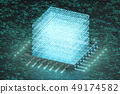AI - artificial intelligence CPU concept. Hologram above CPU. Machine learning. CPU on the board 49174582