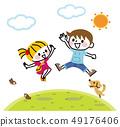 孩子精神跳躍 49176406