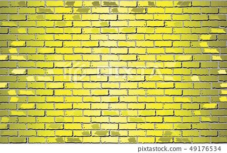 Shiny Yellow Brick Wall 49176534
