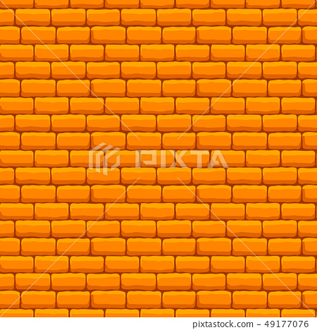 Yellow Brick Wall Seamless Texture - Stock Illustration [49177076 ...