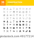 Construction Line Web Glyph Icons 49177214