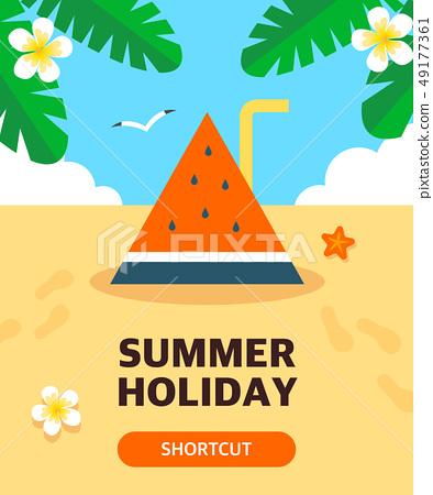 夏季旅遊插圖 49177361