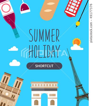 夏季旅遊插圖 49177376